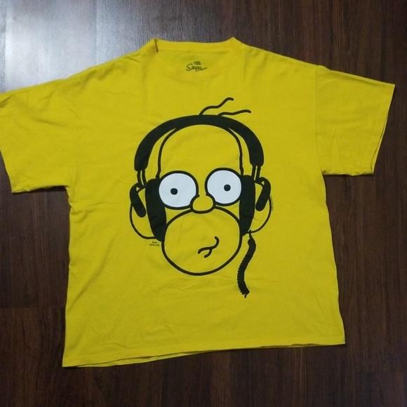 Superb Homer Simpsons Headphones Tshirt Beutiful Home Inspiration Ommitmahrainfo
